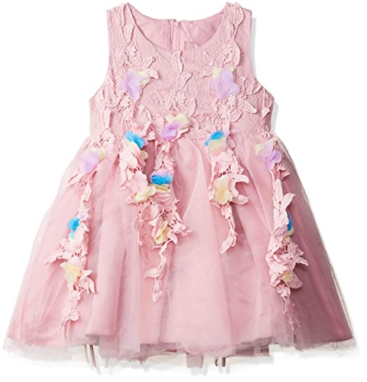 84742e94fb5325 Si Rosa by Hopscotch Purple Flower Applique Sleeveless Dress-18-24 Months