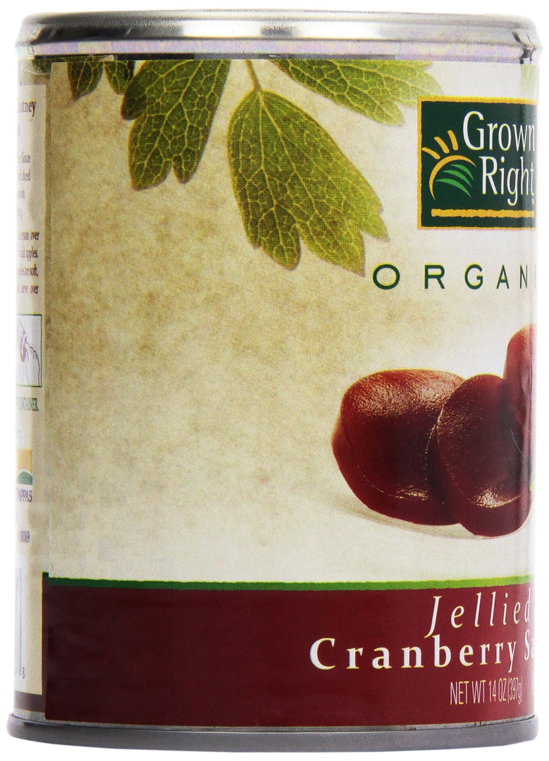 Grown Right Organic Jellied Cranberry Sauce, 16 oz by Grown Right (Image #8)