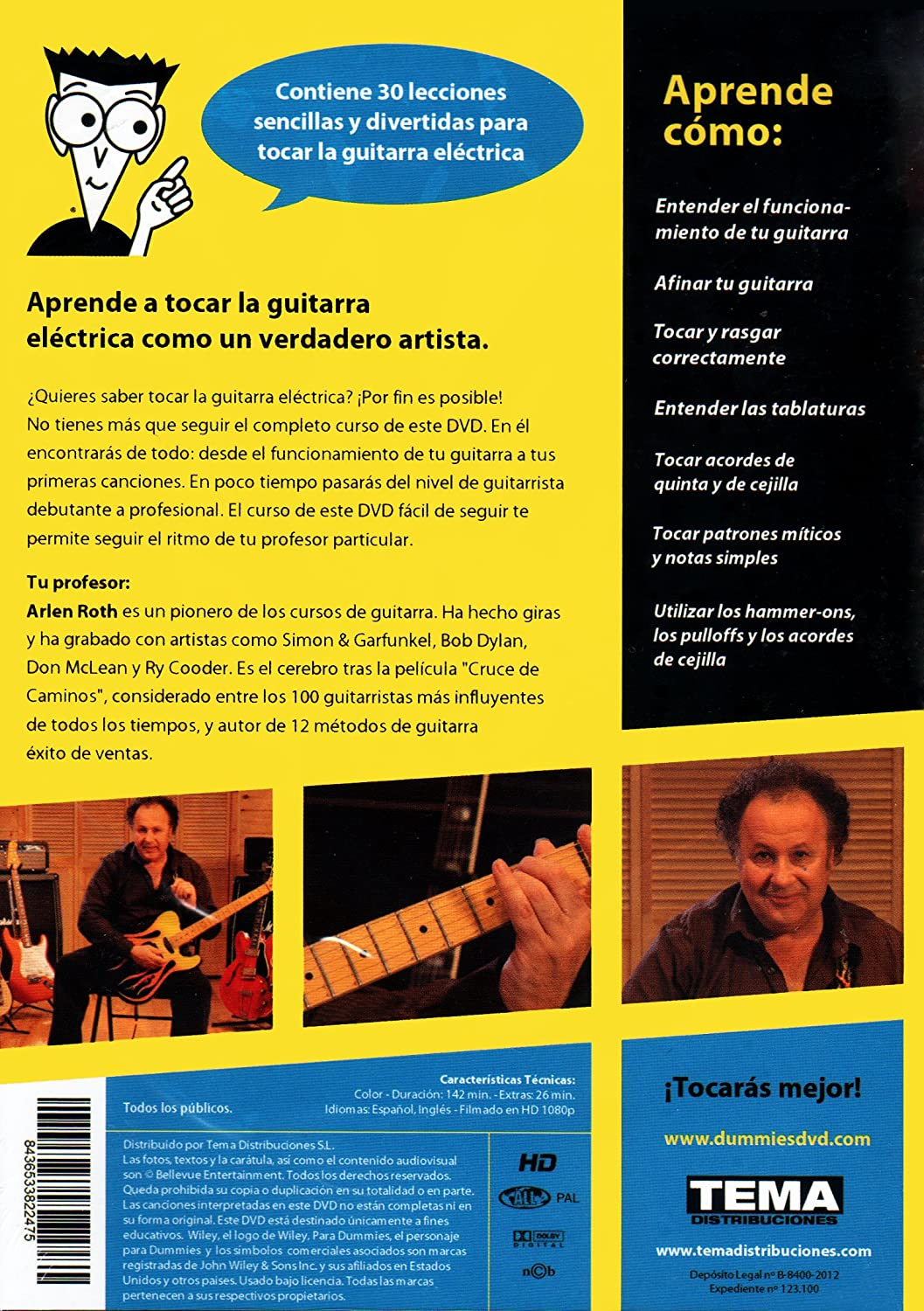 GUITARRA ELECTRICA para Dummies [DVD]: Amazon.es: Arlen Roth, Andrea Ambados: Cine y Series TV