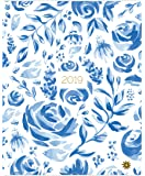 "bloom daily planners 2019 Calendar Year Monthly Planner - Goal Organizer - Monthly Datebook Fashion Agenda - January 2019 Through December 2019-9"" x 12"" - Blue & White Floral"