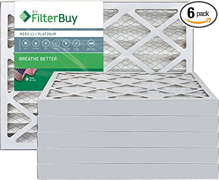 24x30x4 Ultimate Allergen Merv 13 Replacement AC Furnace Air Filter 6 Pack