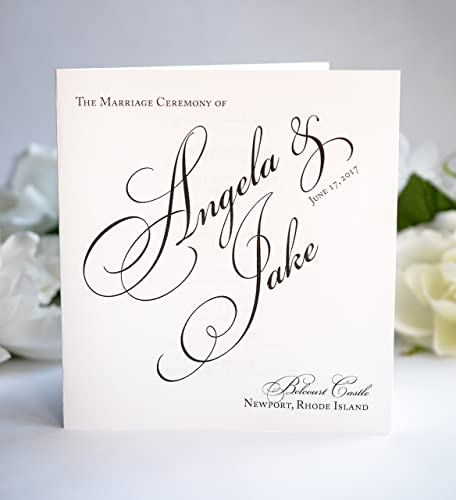 amazon com wedding program booklets black and white programs the