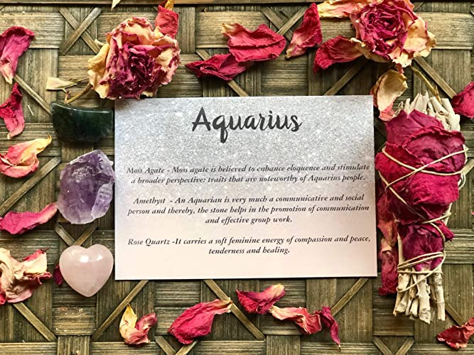 Aquarius Zodiac Crystal Gift Set