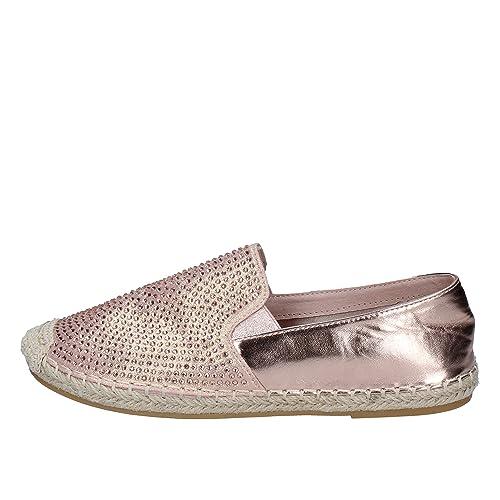 SARA LOPEZ Alpargatas Mujer Textil Rosa: Amazon.es: Zapatos y complementos