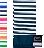 Microfibre Beach Towel Extra Large - 180cm x 90cm Quick Dry XL Lightweight Towel with Easy Zip Bag - The design is perfect for Beach, Travel, Yoga, Sports, Gym, Swimming & Camping