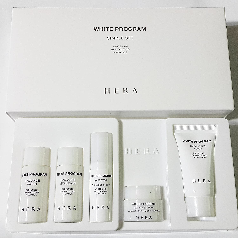 Amore Pacific Hera White Program Simple Set 5 Pcs (Whitening/revitalizing/radiance)