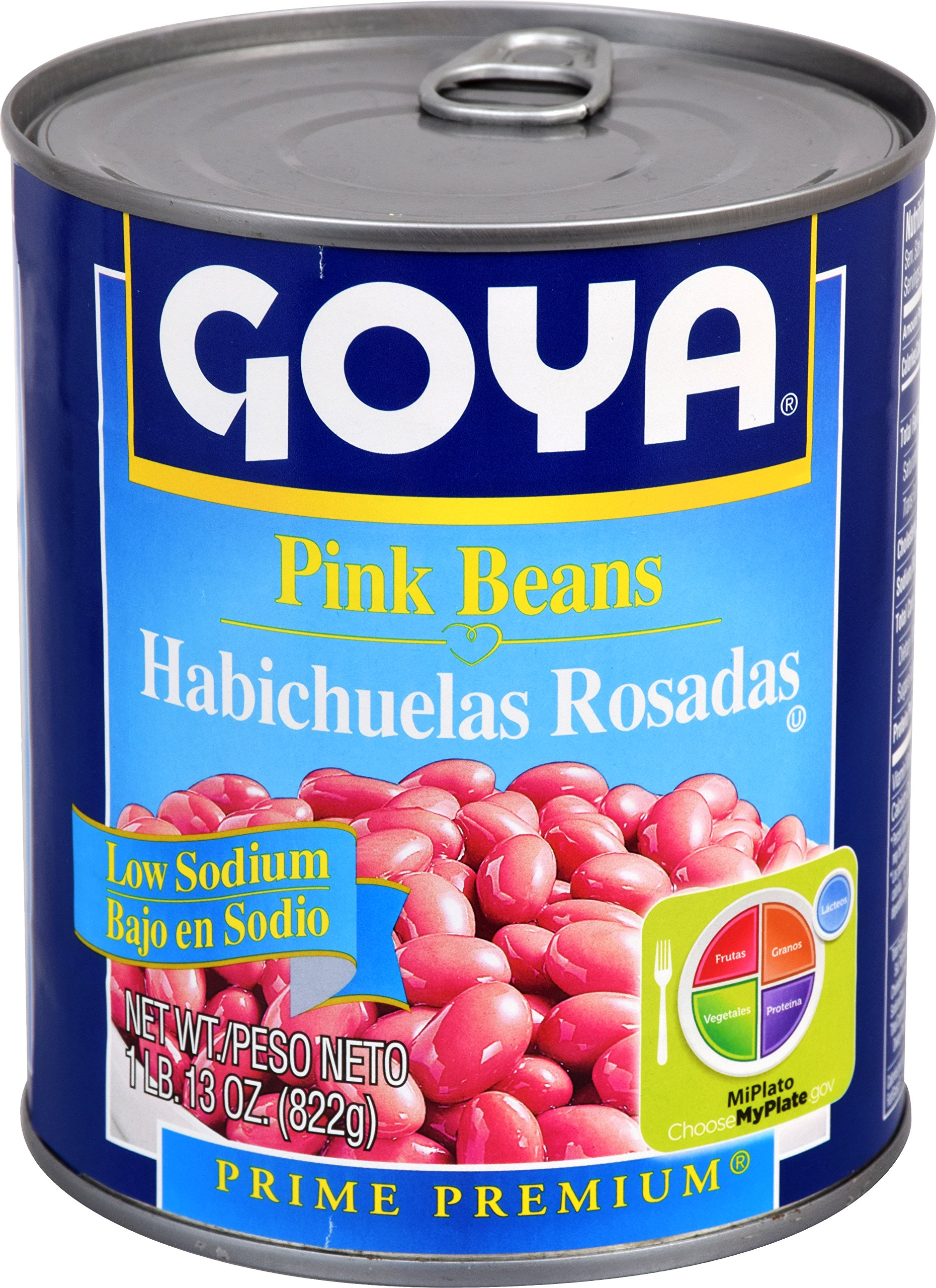 Goya Foods Pink Beans Low Sodium, 29 Ounce (Pack of 12)
