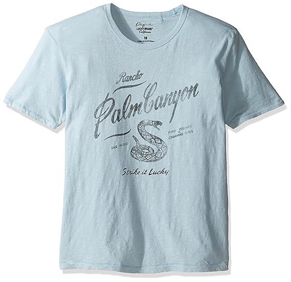 8910d07b3 Lucky Brand Men's Palm Canyon Graphic Tee, Spring Blue Slub, Medium ...