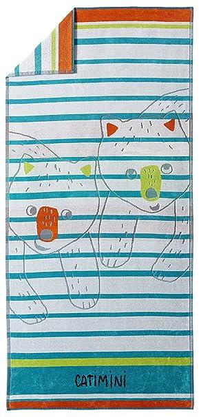Catimini e 506-0420-3789301 Baroudeur-KA-Toalla de Playa algodón, 75 x 160 cm, Multicolor: Amazon.es: Hogar