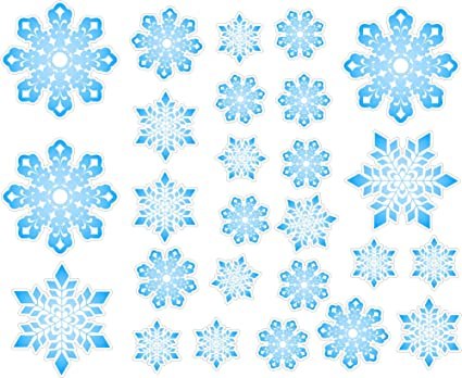 Christmas Snowflakes Repositional And Removable Wall Decal Wall Sticker Wall  Decor