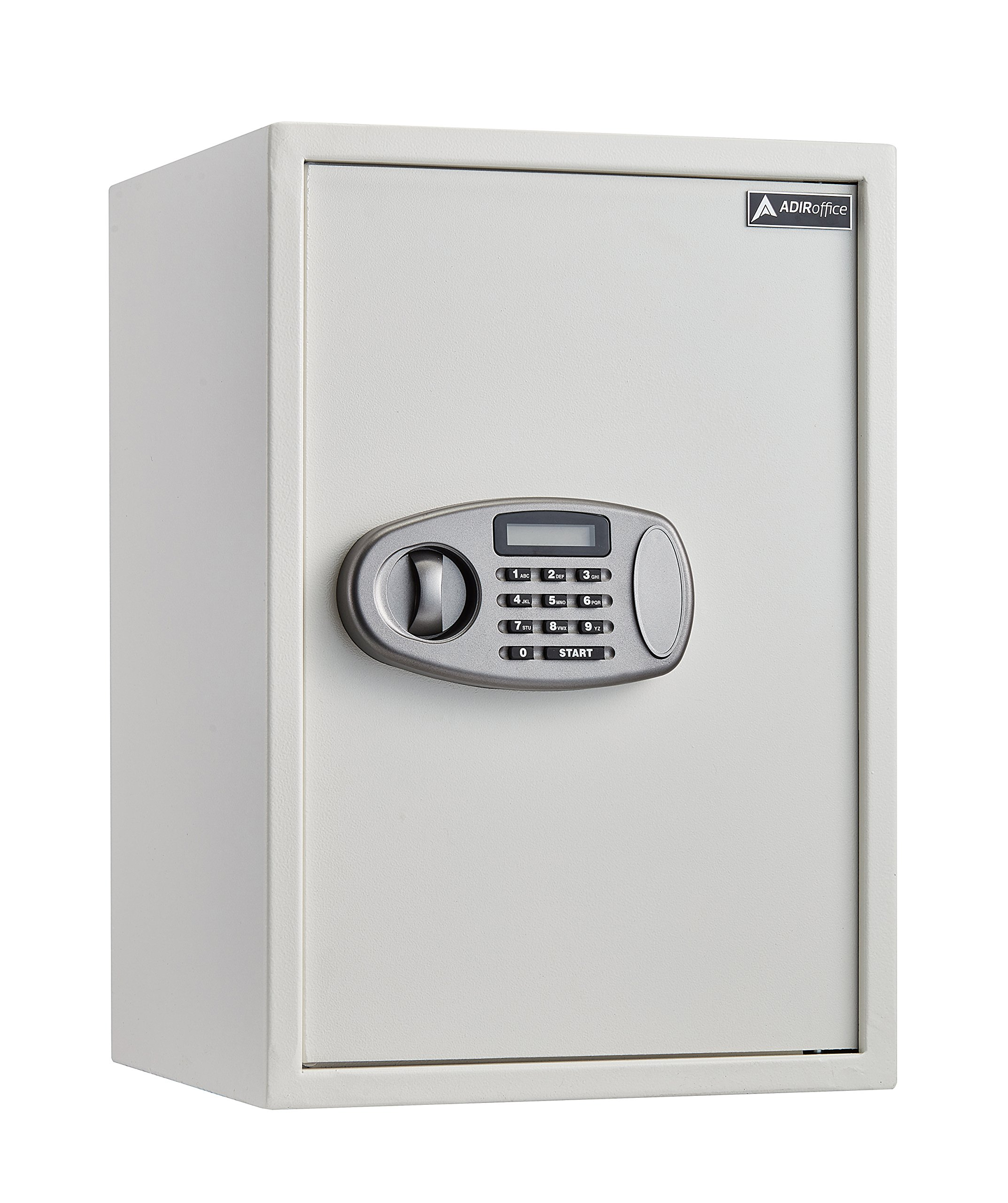 AdirOffice Security Safe with Digital Lock - White - 2.32 Cubic Feet