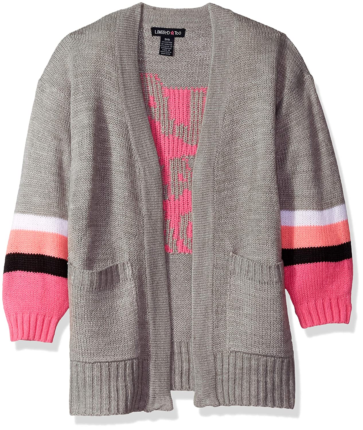 Limited Too Girls' Cardigan with Chenille Letters