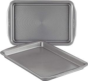 Circulon Nonstick Bakeware Set, Nonstick Cookie Sheet / Baking Sheet - 2 Piece, Gray