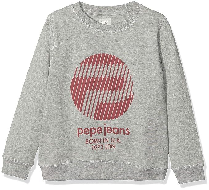 Pepe Jeans Leonard JR, Sudadera para Niños, Gris (Grey Marl 933),
