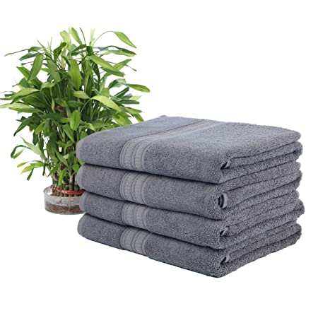 Ariv Collection Premium Bamboo Cotton Bath Towels - Natural, Ultra Absorbent Eco-Friendly 30' X 52' (Coal)
