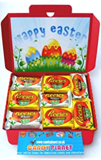 Reeses easter eggs large american candy gift box hamper 32cm x 23cm american reeses peanut butter easter eggs gift box 8 x items 4 x negle Choice Image