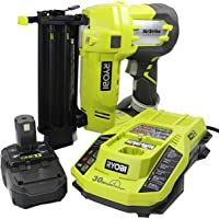 Ryobi 3 Piece 18V One+ Airstrike Brad Nailer Kit (Includes: 1 x P320 Brad Nailer, 1 x P102 2AH 18V Battery, 1 x P117 IntelliPort Dual Chemistry Battery Charger) (Certified Refurbished)