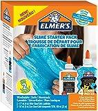 Elmer's Slime Starter Kit, Clear School Glue & Blue Glitter Glue, 4 Count - 2022906