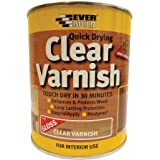 Everbuild EVBWVARCLG07 Quick Dry Wood Varnish Gloss Clear 750 ml