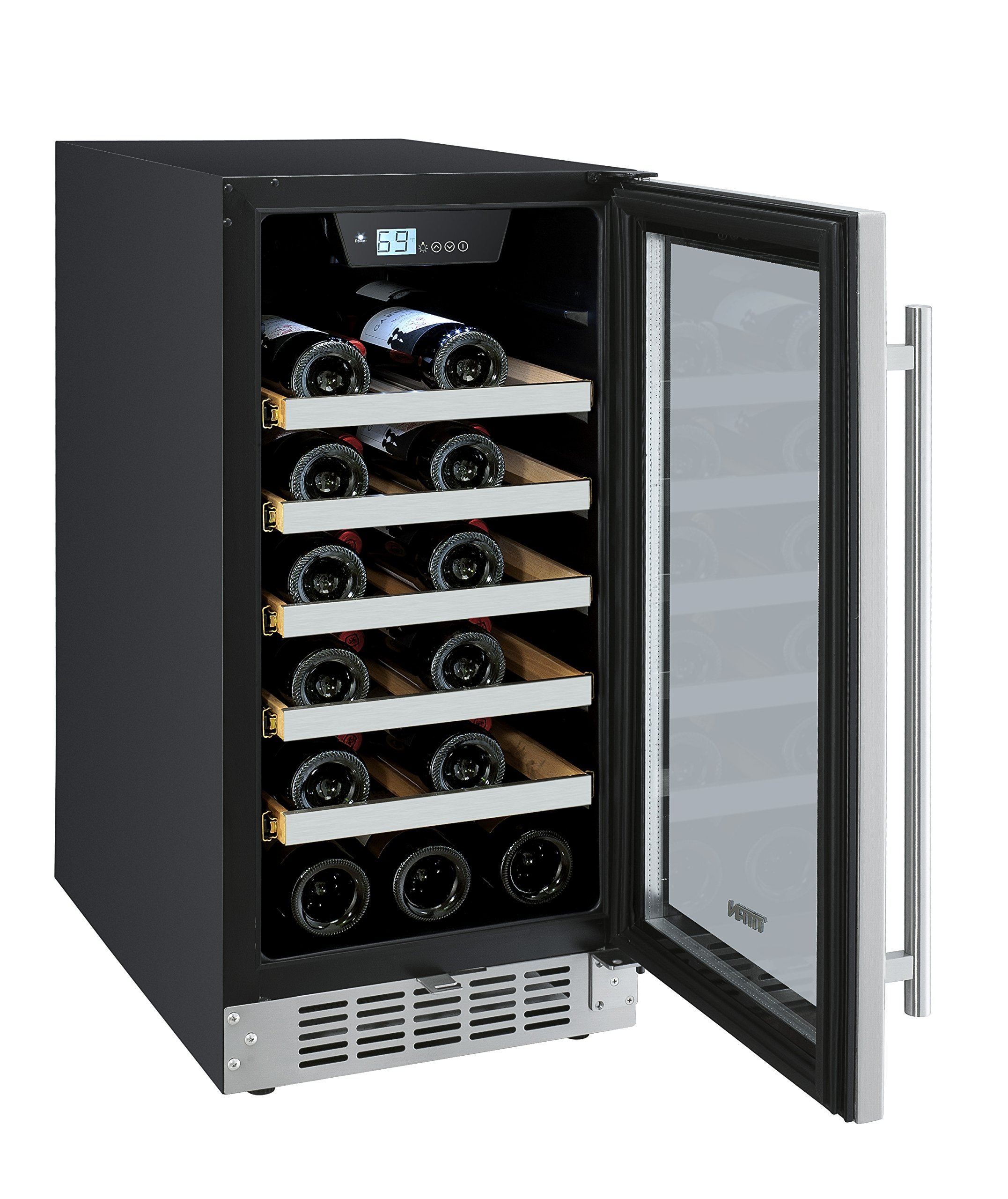 Titan TT-CWC1525SZ 25 Bottle SEAMLESS Stainless Steel Wine Cooler