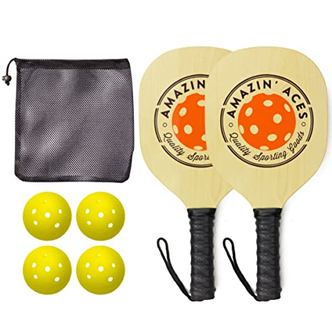 92b373c9d6e80 Amazon.com   Pickleball Paddle Set By Amazin  Aces