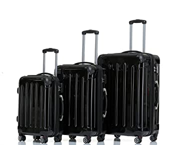 Purple 2048 Twin Rollers Travel Case Luggage Trolley