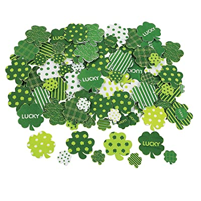 Fabulous Foam Adhesive Shamrock Shapes - Crafts for Kids and Fun Home Activities: Toys & Games