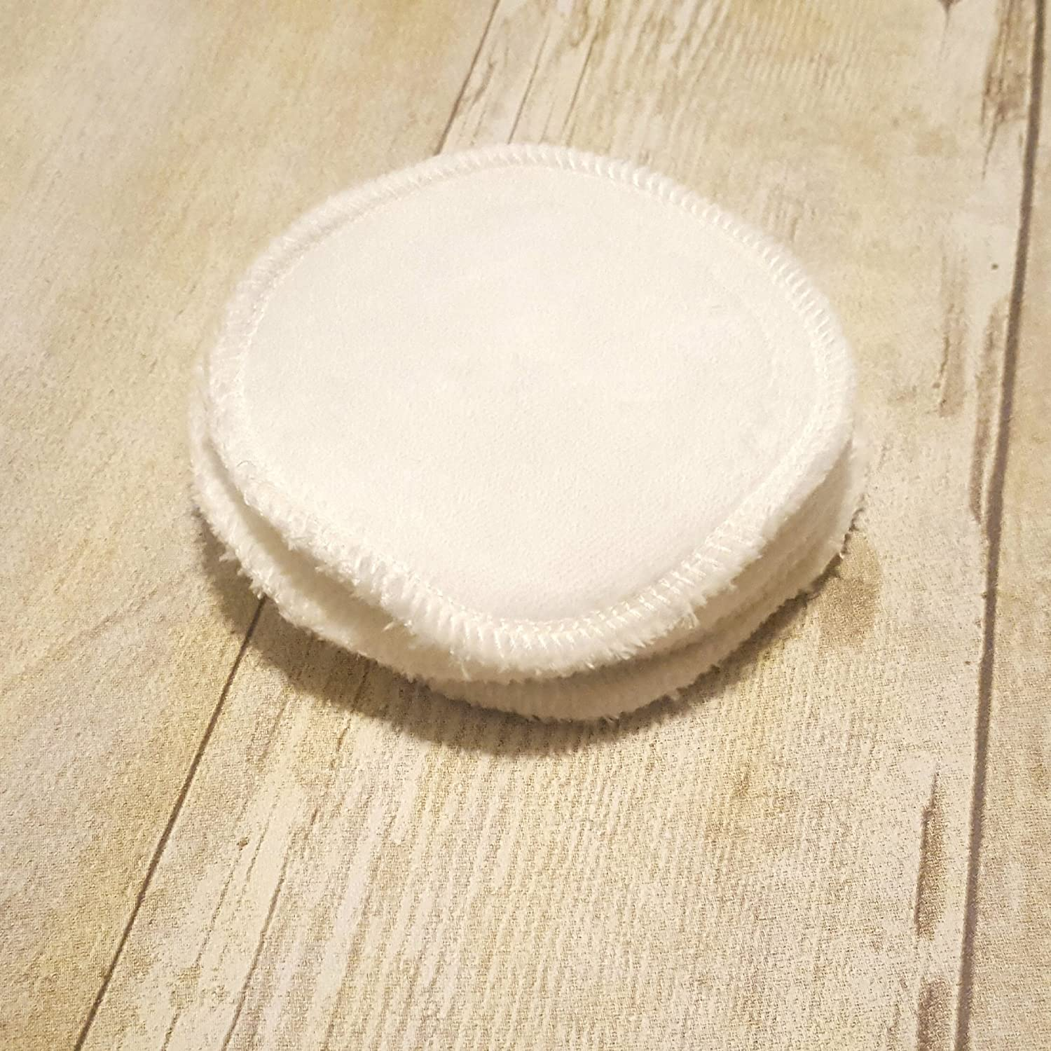 Set of 5 Off-White Reusable Organic Cotton Velour Makeup Remover Pads