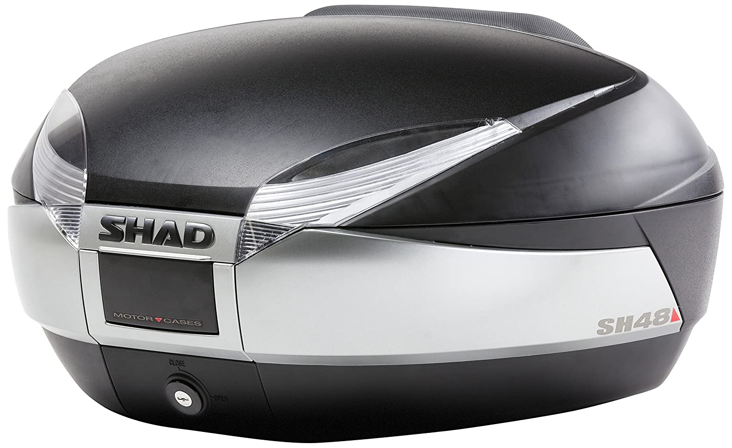 Shad D0B801 Top Case with Universal Mounting Bracket and Rear Reflector 48 Litres
