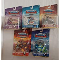 Skylanders 5Packs SuperChargers Vehicles, Burn-Cycle, Splatter Splasher, Sky Slicer, Shark Tank, Dive Bomber