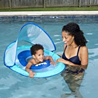 Swimways Baby Spring Float Sun Canopy (Blue Lobster)