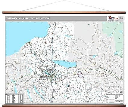 Amazon.com: MarketMAPS Syracuse, NY Metro Area Wall Map - 2018 - ZIP ...