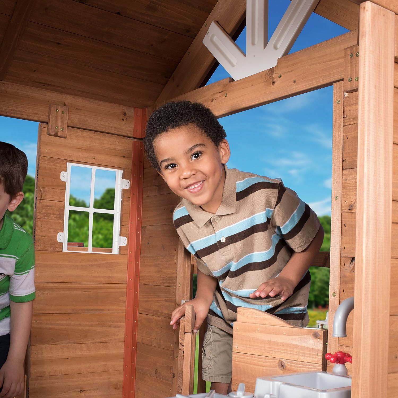 amazon com backyard discovery scenic heights all cedar playhouse