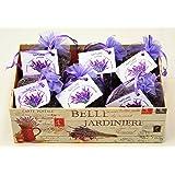 Lavendelsäckchen 6 x 20 Gramm, Lavendelbeutel + dekorative Box, Zum Entspannen und Dekorieren des Hauses, Lavendelblüten