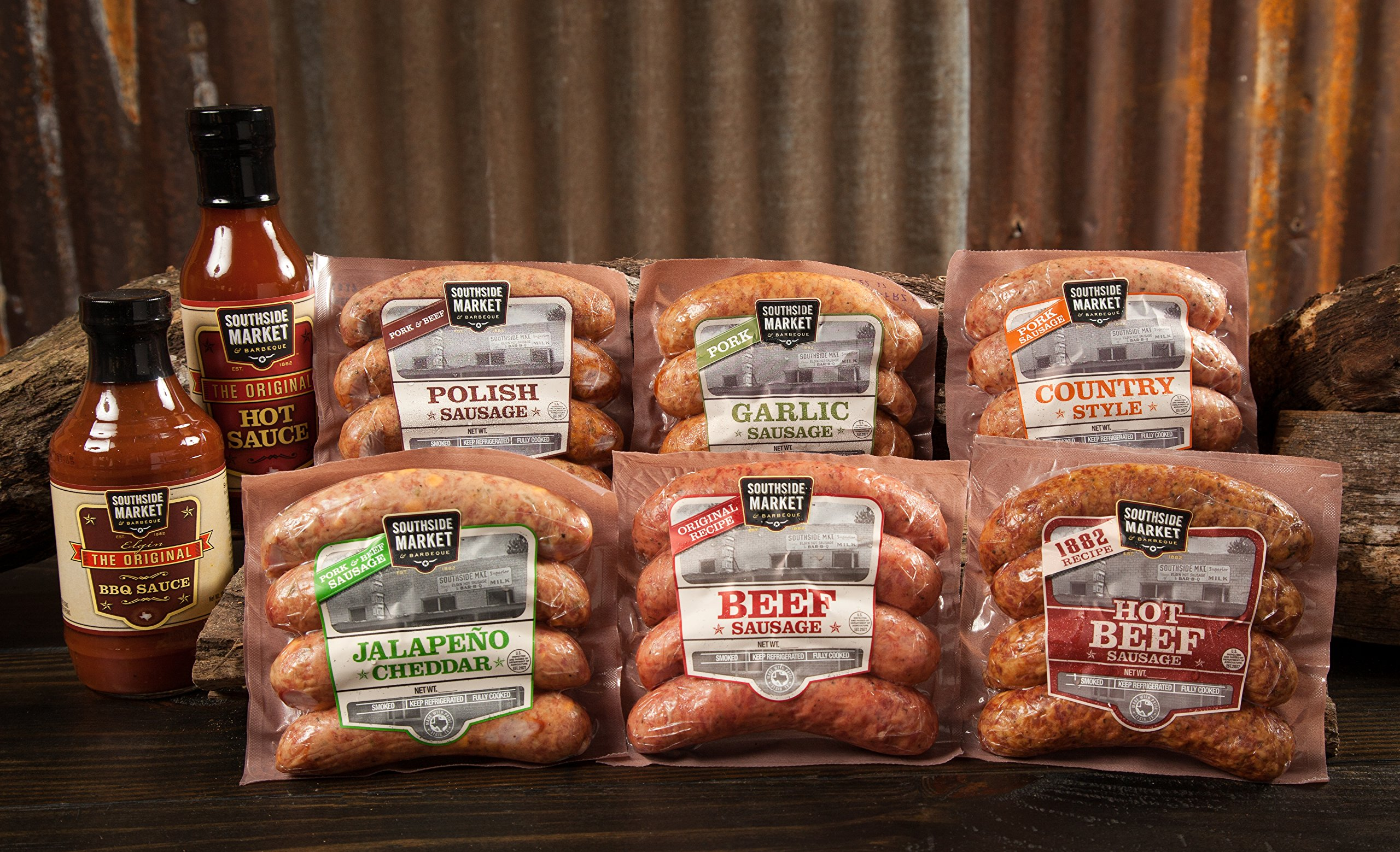 Smoked Sausage Sampler - 6 Different Flavors by Southside Market & Barbeque (Image #2)