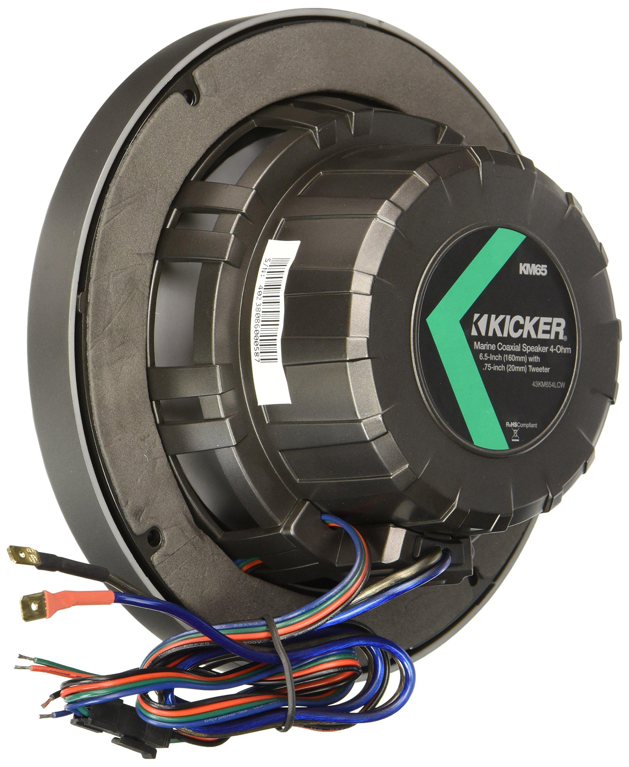 Kicker 6.5 Inch KM-Series LED Marine Speakers 43KM654LCW by Kicker (Image #2)