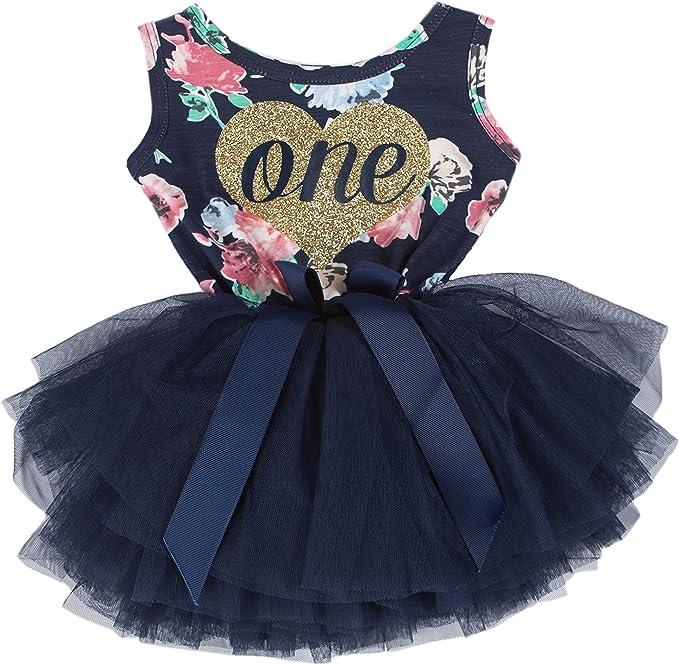 Amazon.com: Grace & Lucille primer cumpleaños vestido (sin ...