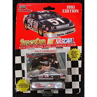 Dale Earnhardt 1993 Stock Car with Collector's Card and Display Stand by Nascar: Toys & Games