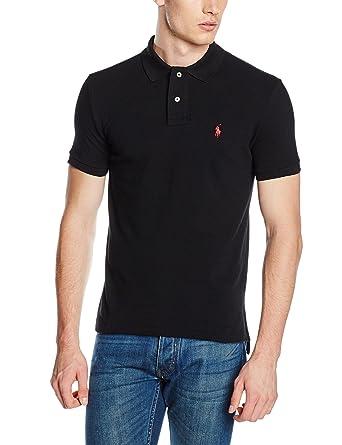1c1426934d05 RALPH LAUREN - Polo Ralph Lauren basique 2 boutons noir pour homme  Ralph  Lauren  Amazon.fr  Vêtements et accessoires