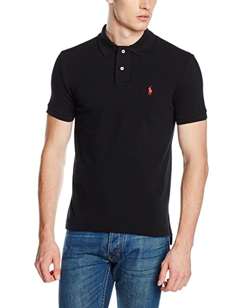 Polo para hombre de Polo Ralph Lauren Negro negro XX-Large: Amazon ...