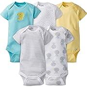 Gerber Baby-Boys Variety Onesies Brand Bodysuits, Duck, 0-3 Months (Pack of 5)