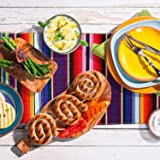 Aneco 4 Pack 14 by 84 Inch Mexican Table Runner