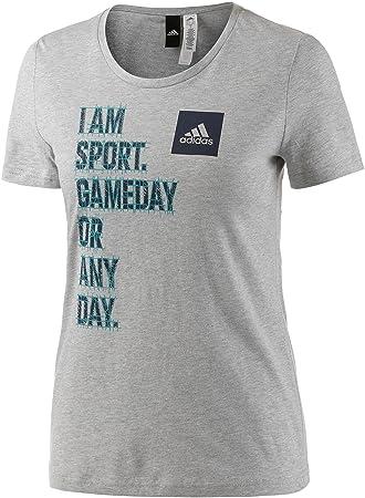adidas sport shirt damen grau