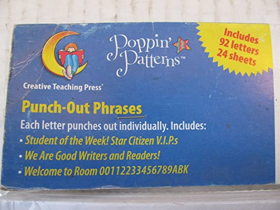 Amazon Poppin Patterns Punch Out Phrases Other Products