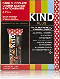 KIND Bars, Dark Chocolate Cherry Cashew + Antioxidants, Gluten Free, 1.4 Ounce Bars, 4 Count