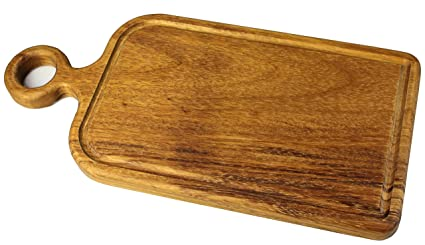 Prosharp® Severe Tabla de Cortar Profesional Carne (Madera Maciza Natural/bajo de Plana