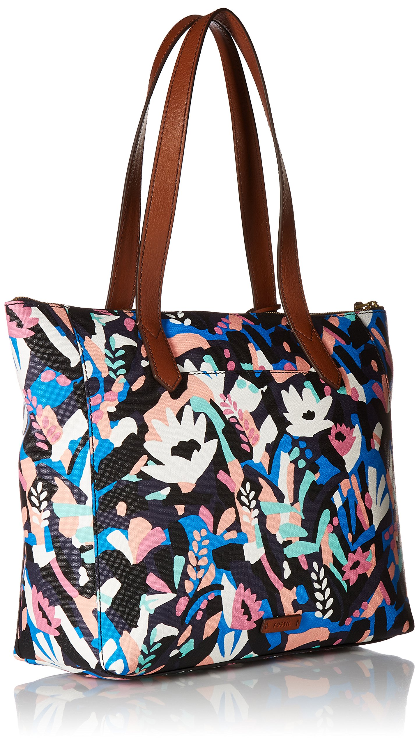 Fossil Fiona E/W Tote Bag, Black Floral,One Size by Fossil (Image #2)