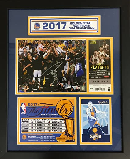 4df32622 Image Unavailable. Image not available for. Color: Steph Curry autographed  Golden State Warriors 2017 NBA ...