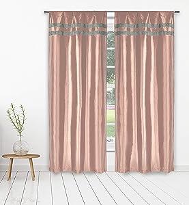 kensie Kaia Curtain Set, 38x84, Blush