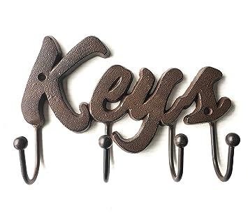 Amazon.com: Keys Shaped Decorative Key Holder - Cast Iron Wall ...